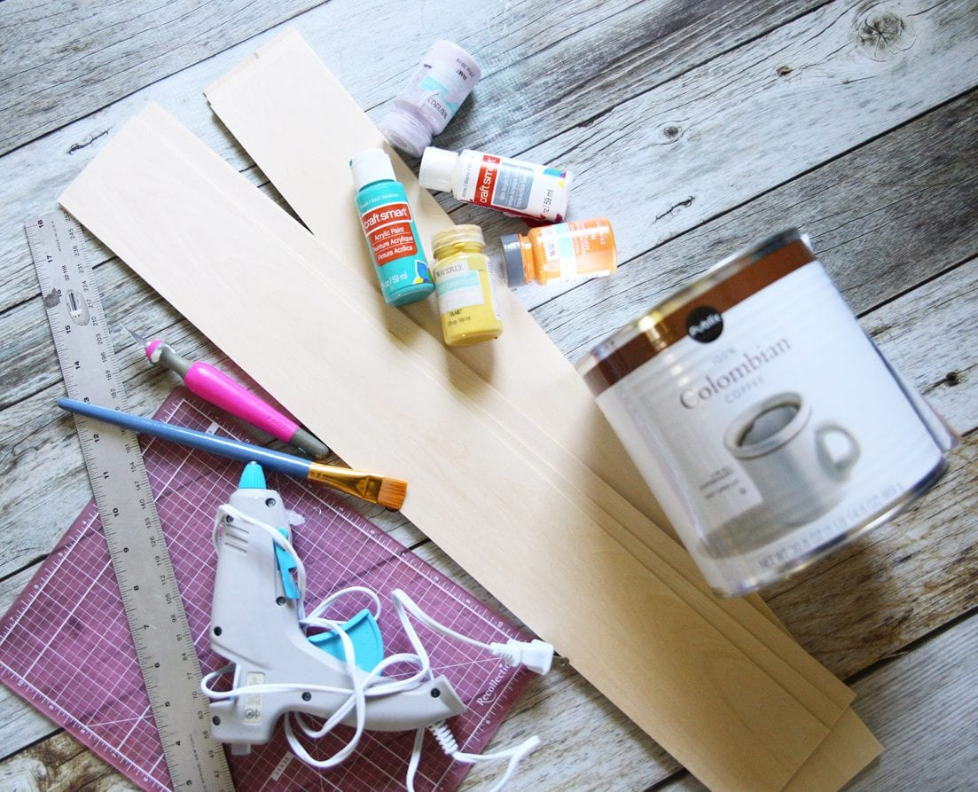 supplies to make a simple centerpiece