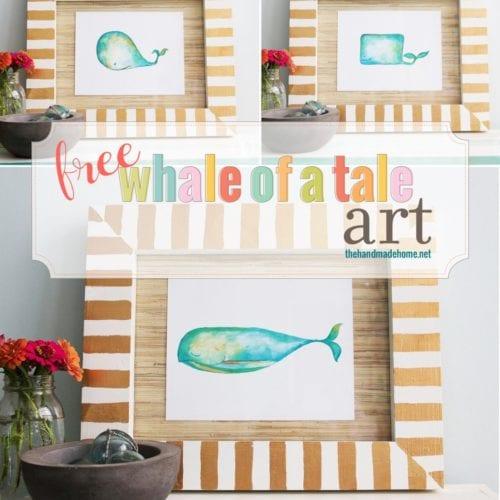 free wall art – whale of a tale
