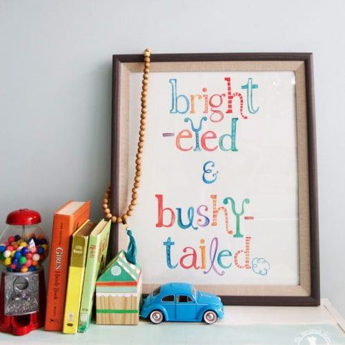free art: bright eyed and bushy tailed