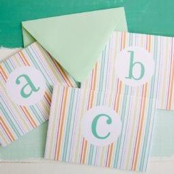free monogrammed stationery