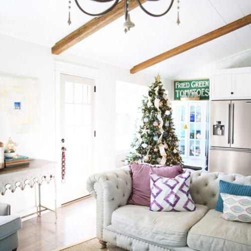 there's a christmas tree in my kitchen {a tour of sorts}
