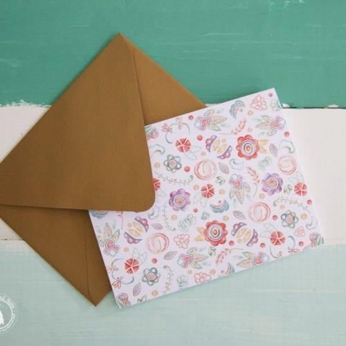 free floral stationery