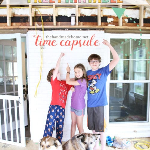 message in a bottle: free time capsule printables