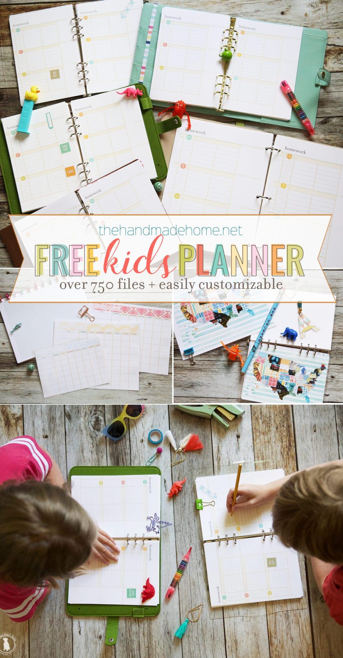 free kids planner 2020