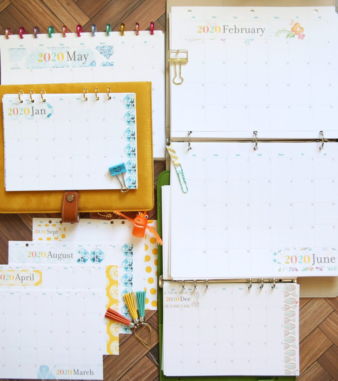 planner month inserts