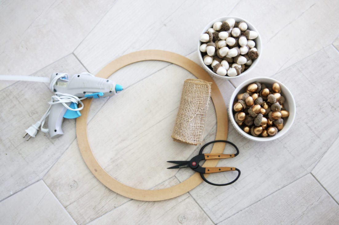diy fall acorn wreath