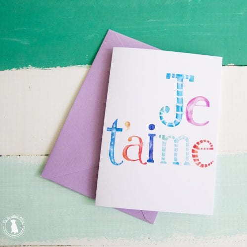 Je'taime free valentine's stationery and art