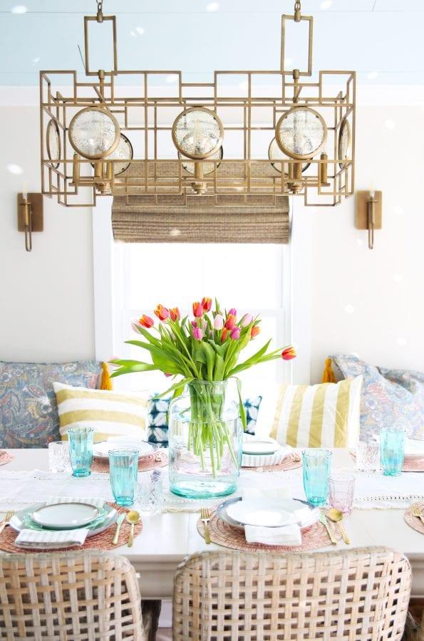 easy spring tablescape