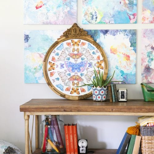 free butterfly kaleidoscope art