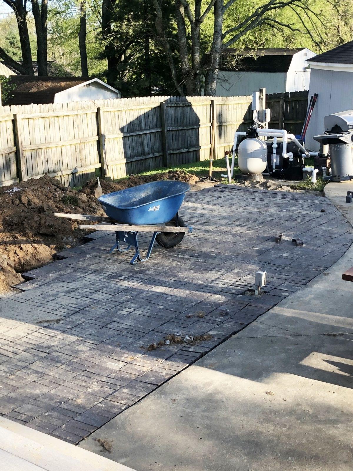 adding german smear to patio pavers