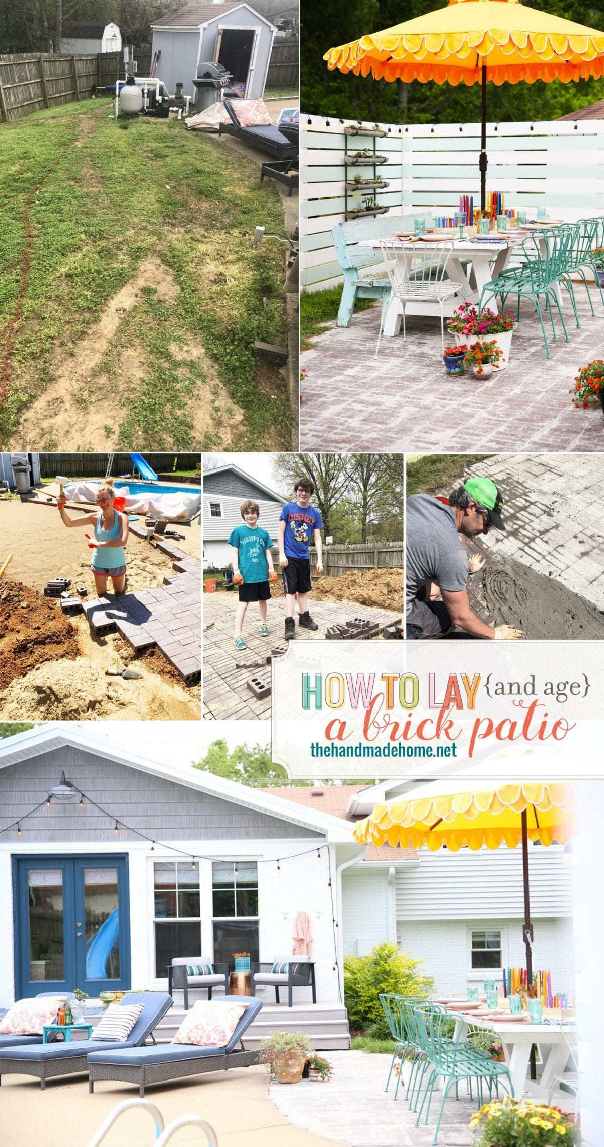 how to lay a brick patio