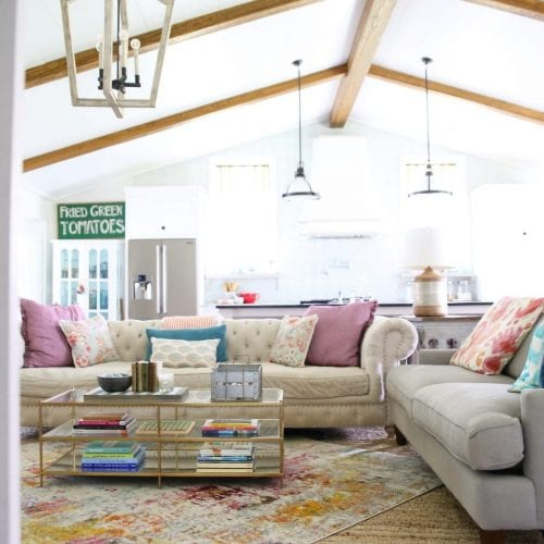 the guide to mismatched sofas {and furniture}