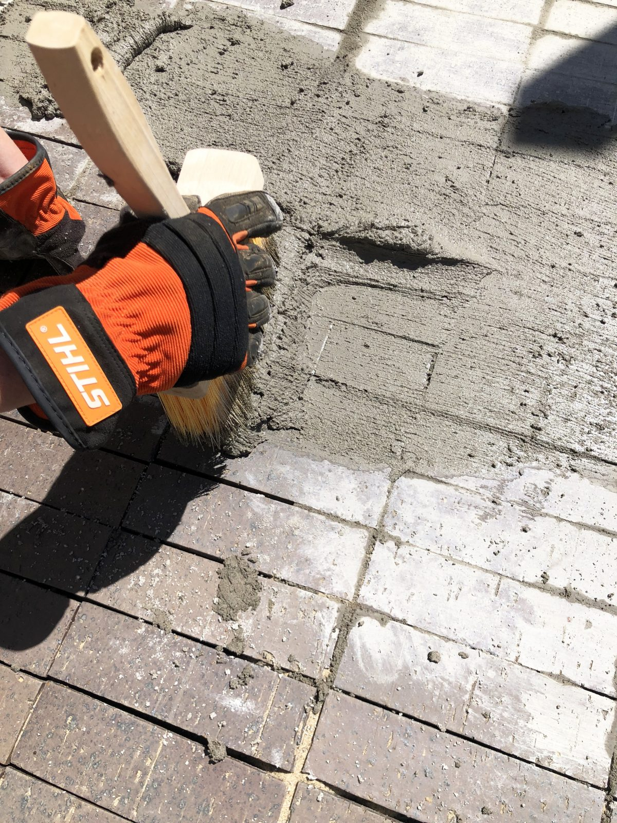 how to lay and age a brick patio with german smear
