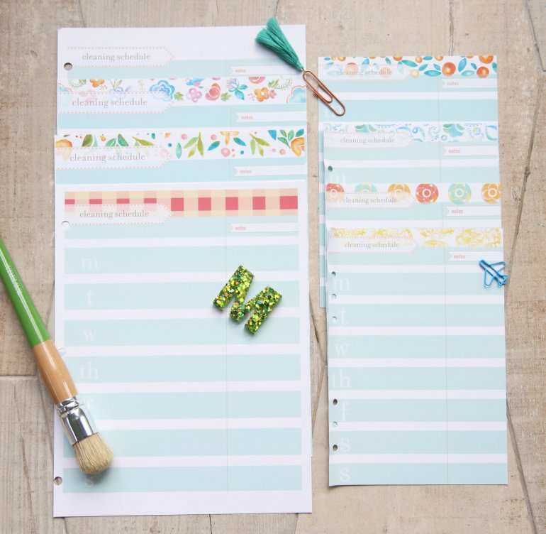 free cleaning schedule planner 2021
