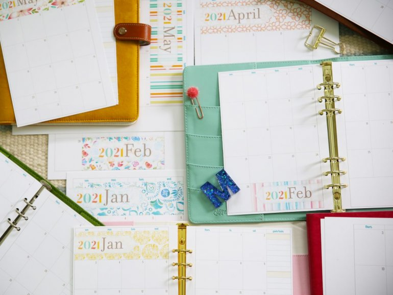 free monthly planner 2021