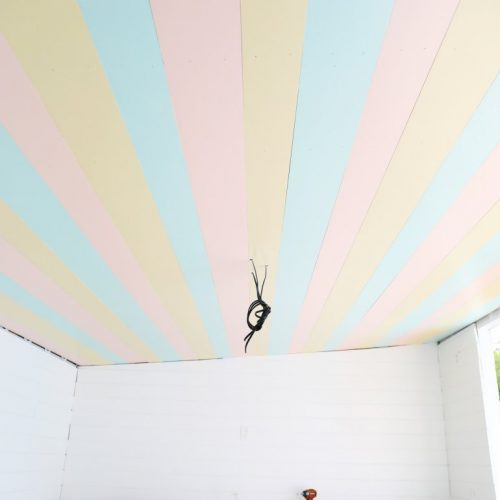 cabana progress: paint, stripes, electrical and more
