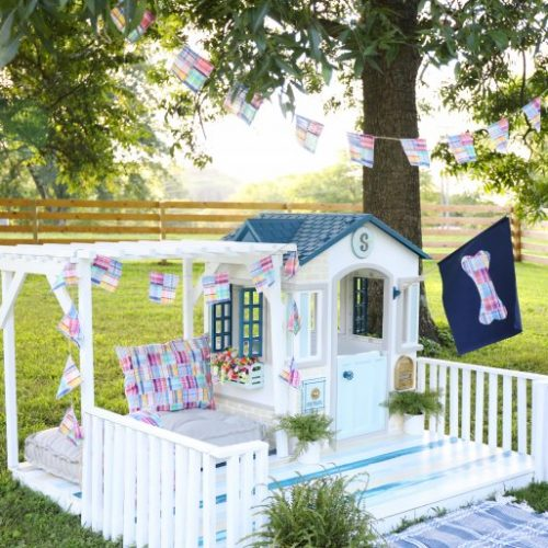 little tikes playhouse makeover: doghouse edition