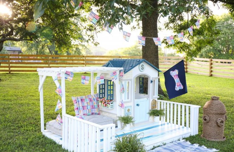 how to makeover a little tikes playhouse {and a handmade fire hydrant}