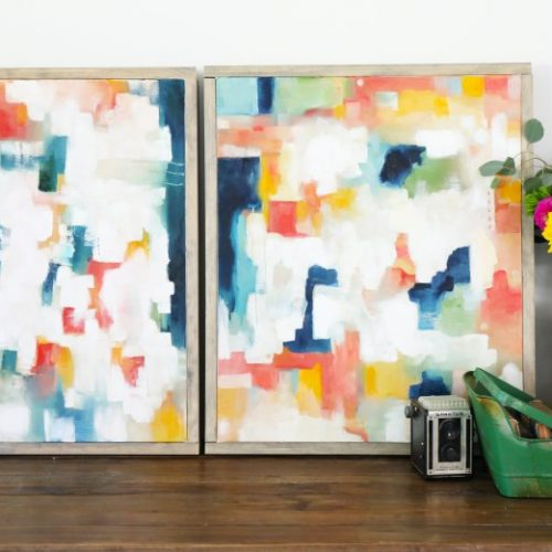 diy abstract art – our best tips {and a freebie!}